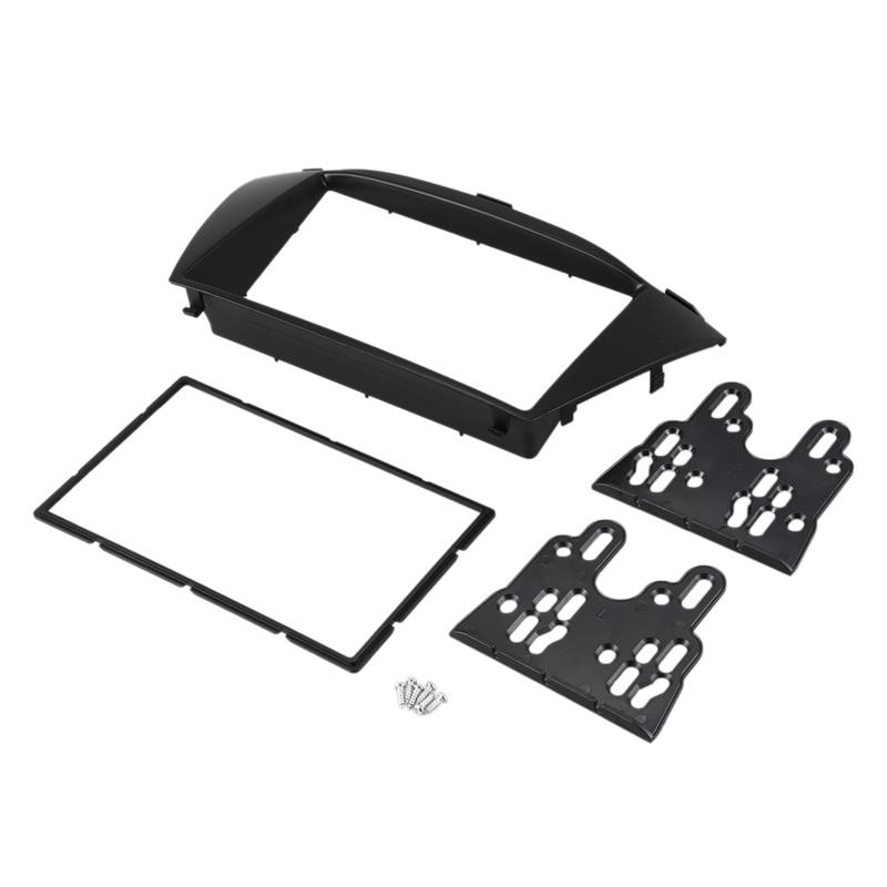 El mejor y sorprendente Kit de embellecedor de Radio de coche Din doble para HYUNDAI TUCSON IX35 de 2010, marco de instalación, DVD para Panel de interfaz ESTÉREO
