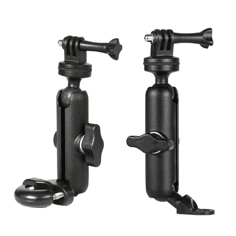 Soporte de cámara para motocicleta, soporte de espejo para manillar, soporte de Metal 1/4 para cámara go-pro/so-ny/CONTOUR/SLR