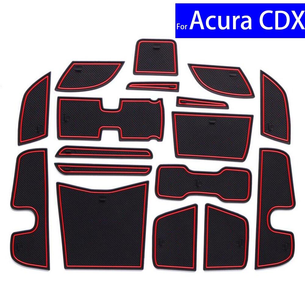 Esteras de ranura de puerta de coche antideslizantes alfombras posición cojinetes portavasos para Honda Acura CDX esteras con surcos para puerta envío gratis