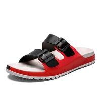 Сандалии мужские с открытым носком, повседневные прочные нескользящие, модные тапочки для дома, размеры 39-45, летняя обувь
