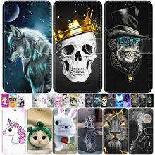 Animal lindo caja Flip Funda de cuero para Samsung Galaxy A3 2015 A5 2016 A6 A7 A8 2018 A9 Pro estrella A750 A530 A520 A510 S5 P08F
