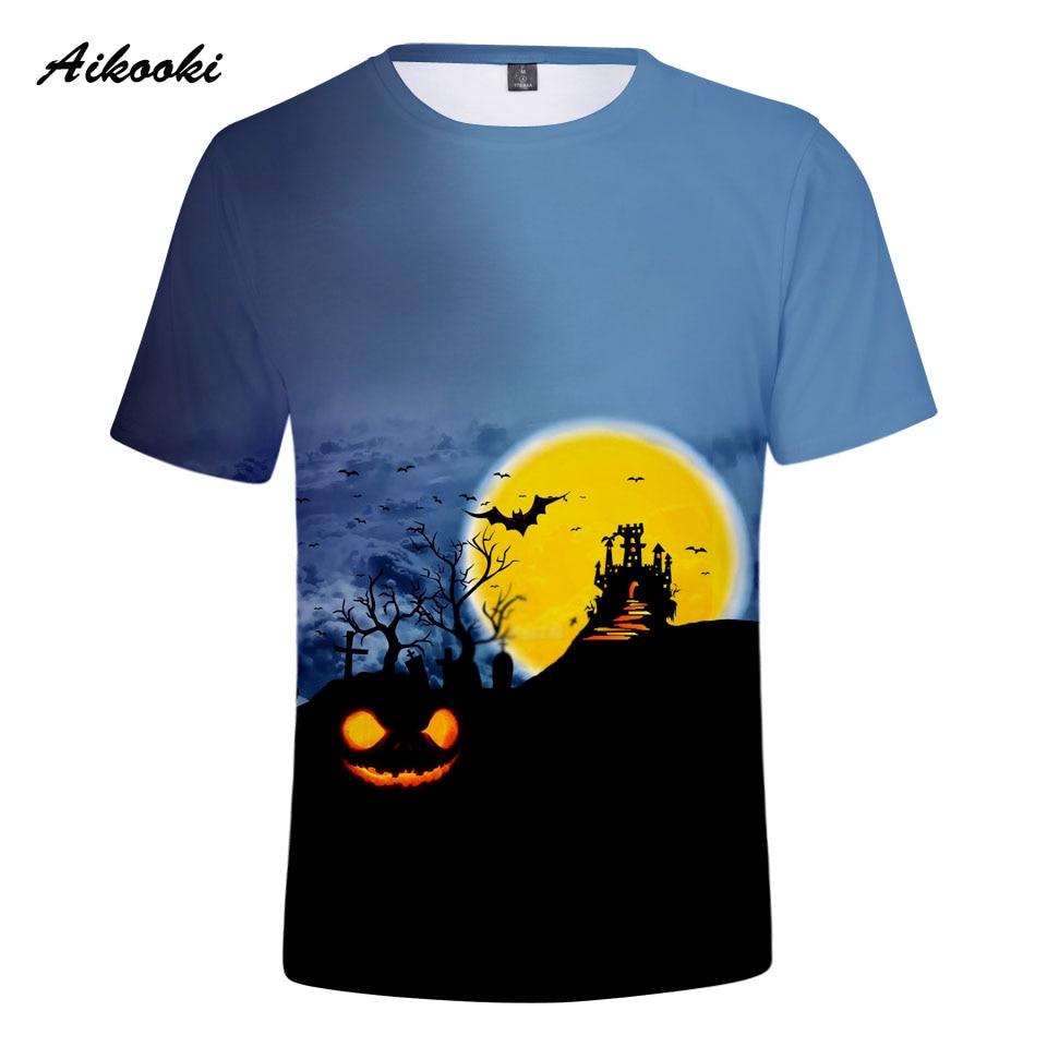 Camisetas 3D de Halloween para hombres y mujeres, camiseta creativa divertida de...