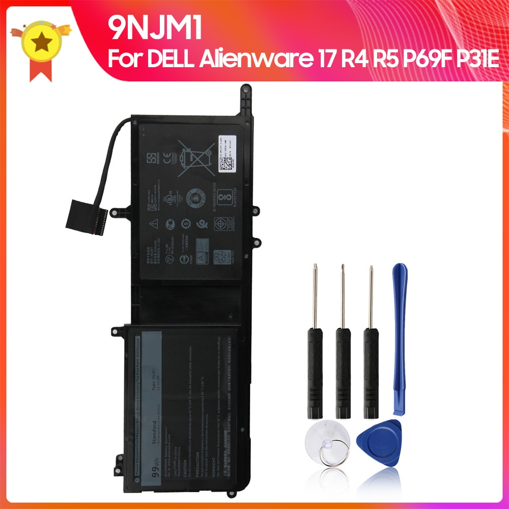 original 15 2v 76wh original battery for tdw5p series laptop Original Replacement Battery 9NJM1 For Dell Alienware 15 R3 17 R4 Series Notebook HF250 0546FF 0HF2500 HF250 MG2YH 44T2R