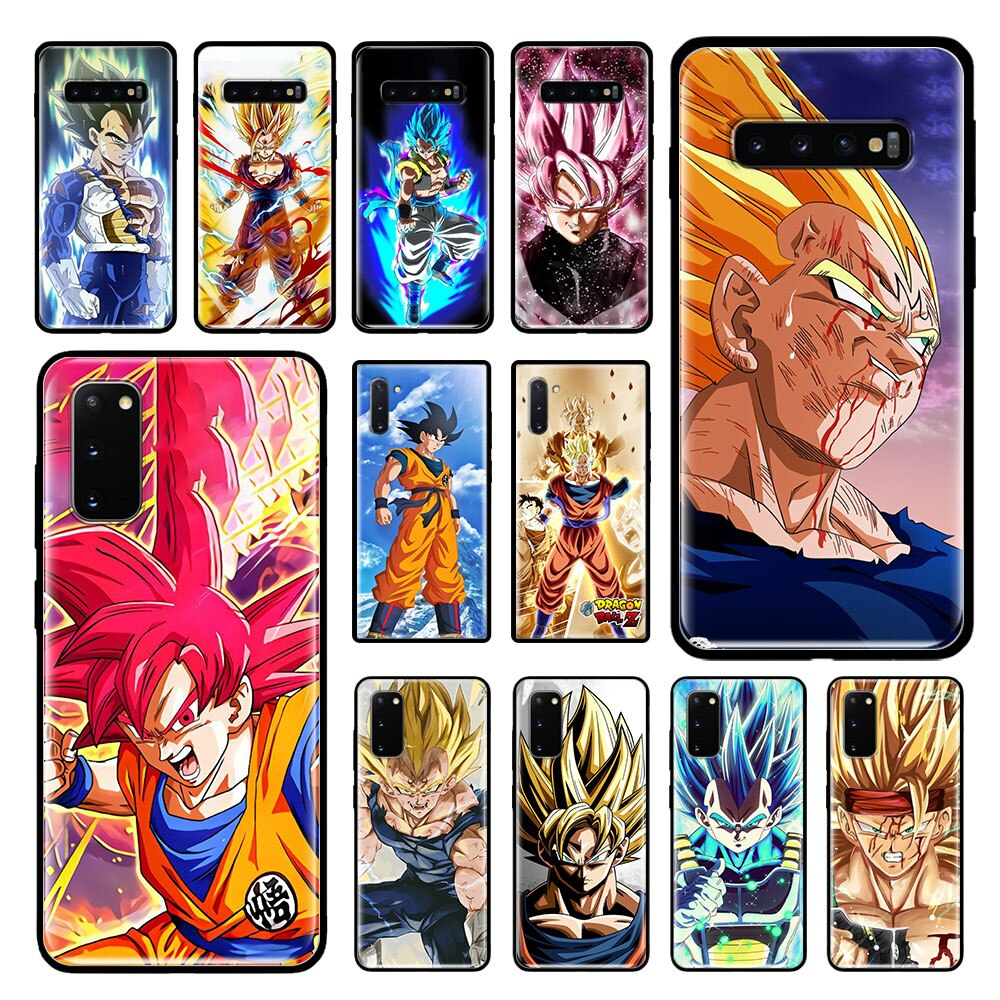 DRAGON BALL Z DBZ Goku caso para Samsung Galaxy S20 Ultra S10 Plus 5G S10e S9 S8 Nota 10 Lite 9 negro suave de la cubierta del teléfono bolsas