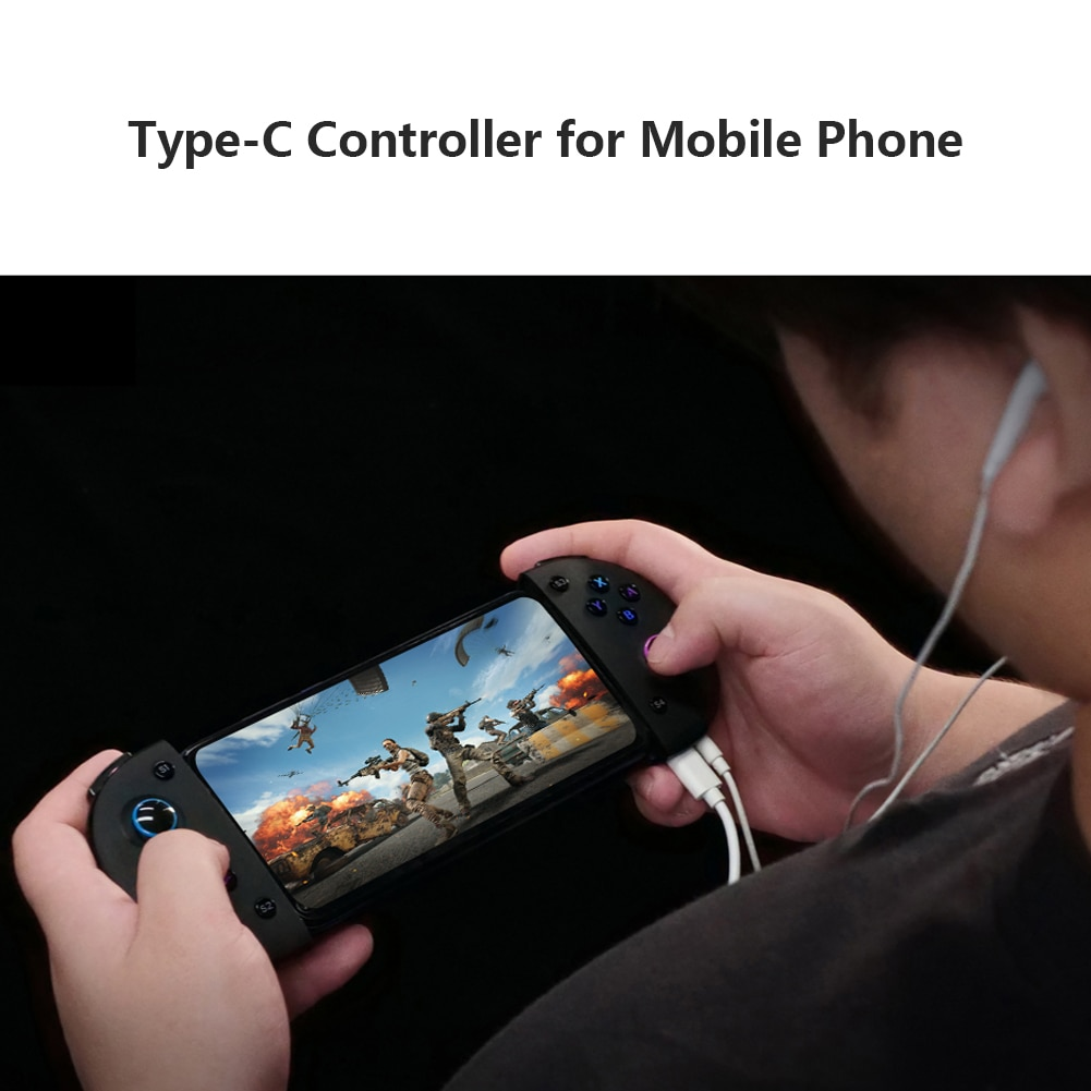 وحدة تحكم ألعاب تلسكوبية من النوع C للهاتف ، وحدة تحكم مع شحن ، عصا تحكم ، حامل هاتف تلسكوبي ، مقبض ألعاب محمول