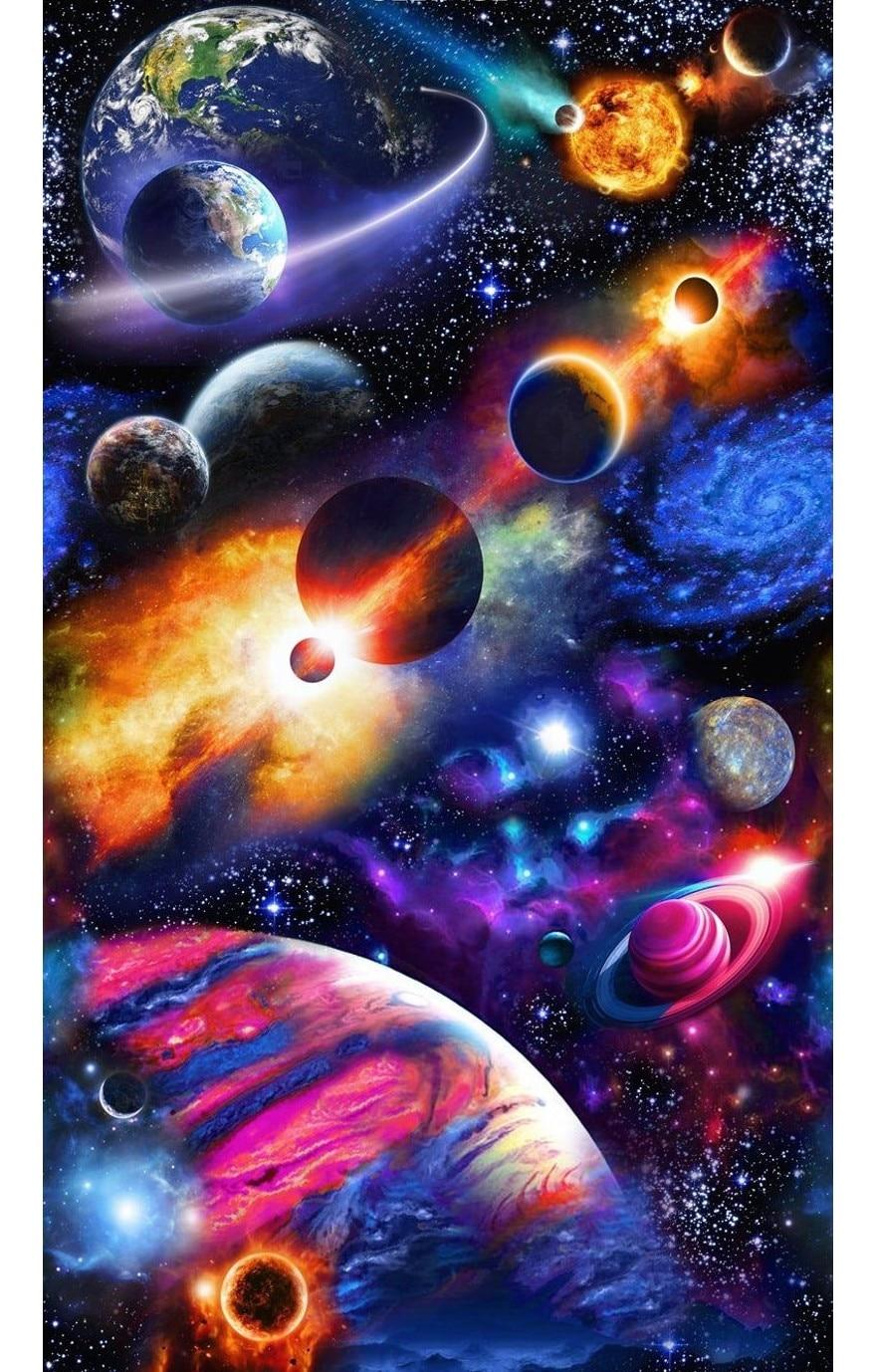 JMINE Div 5D espacio galaxia tierra universo planeta completo diamante pintura punto de cruz kits arte escénico pintura 3D por diamantes