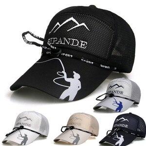 New Spring And Summer Mountaineering Outdoor Men'S Baseball Cap Fishing Sunscreen Net Cap Ladies Lengthened Sunshade Hat