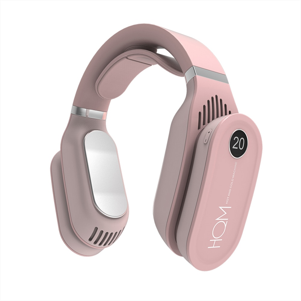Mini Neck Fan Portable air conditioning Bladeless ventilador USB Rechargeable Leafless Wearable Neckband Fan With Warm Heater