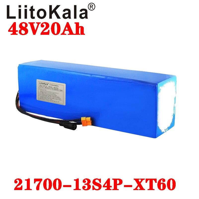 LiitoKala 48V 20ah 21700 5000mAh 13S4P батарея для электровелосипеда 20A BMS 48v литиевая батарея для электрического скутера