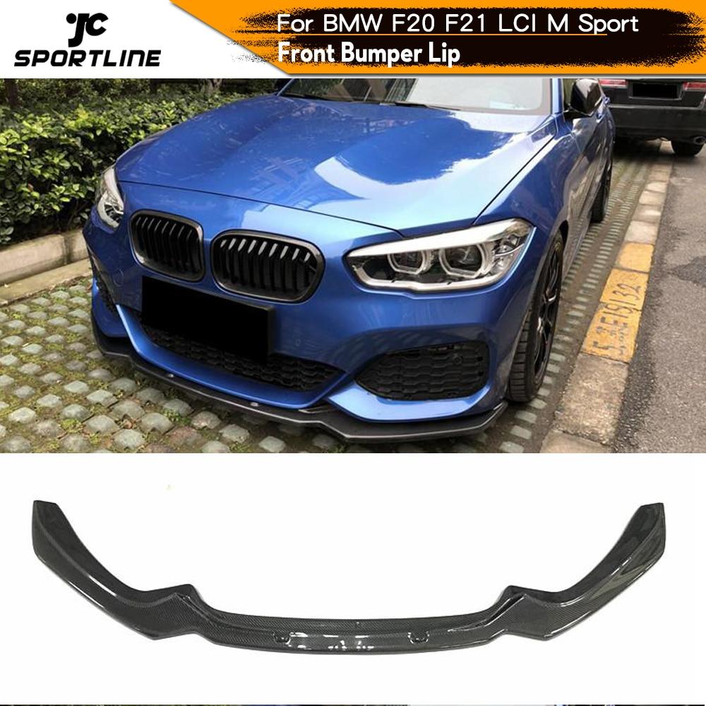 Para BMW F20 F21 M Sport Hatchback 2 puertas 4 puertas 2016 - 2018 LCI parachoques delantero de coche labio Spoiler Splitters fibra de carbono M135i M140i