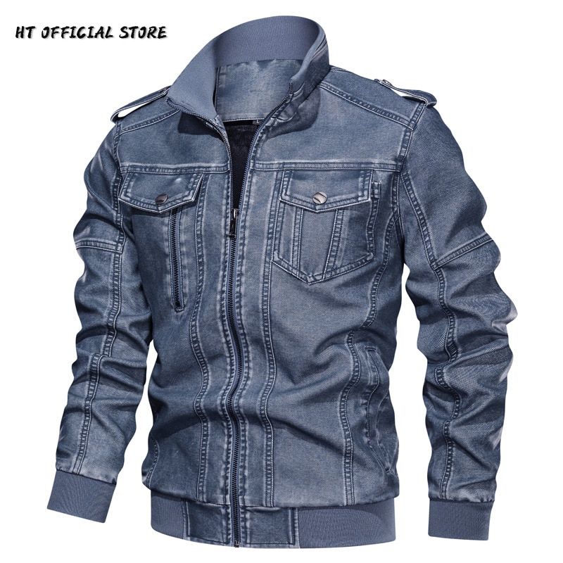 Winter Jacket Men Solid Casual Leather Coat Man 2021 New-Arrived Motorcycle Mens PU Clothing Fashion Male Clothes Oversize 6XL