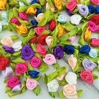 100pcspack25mm satin bow knot mini rosette for home wedding party ribbon clothing decoration scrapbooking diy crafts supplies