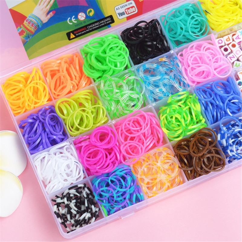 aliexpress.com - New 1500pcs Rainbow Rubber Bands Set Kid Multi-functional Classic Practical Funny DIY Toys Rainbow Woven Bracelet for Girl Gifts