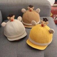 children autumn winter baby cotton cap boy girl baby super cute baby hat fashion adjustable baseball caps hip hop sun hat