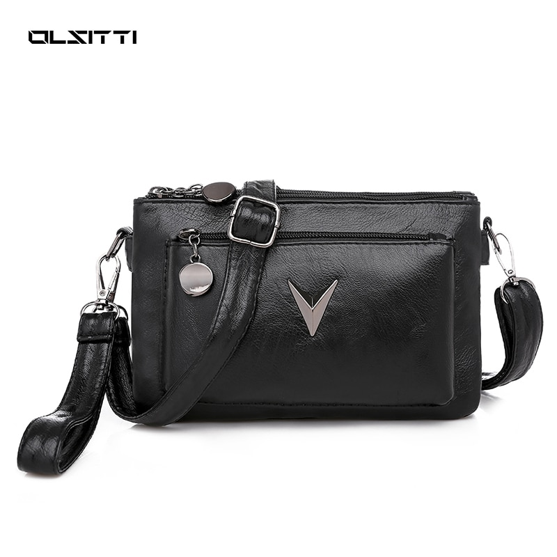OLSITTI Cute Solid Color Small PU Leather Shoulder Bags for Women 2021 Summer Simple Handbags Purses