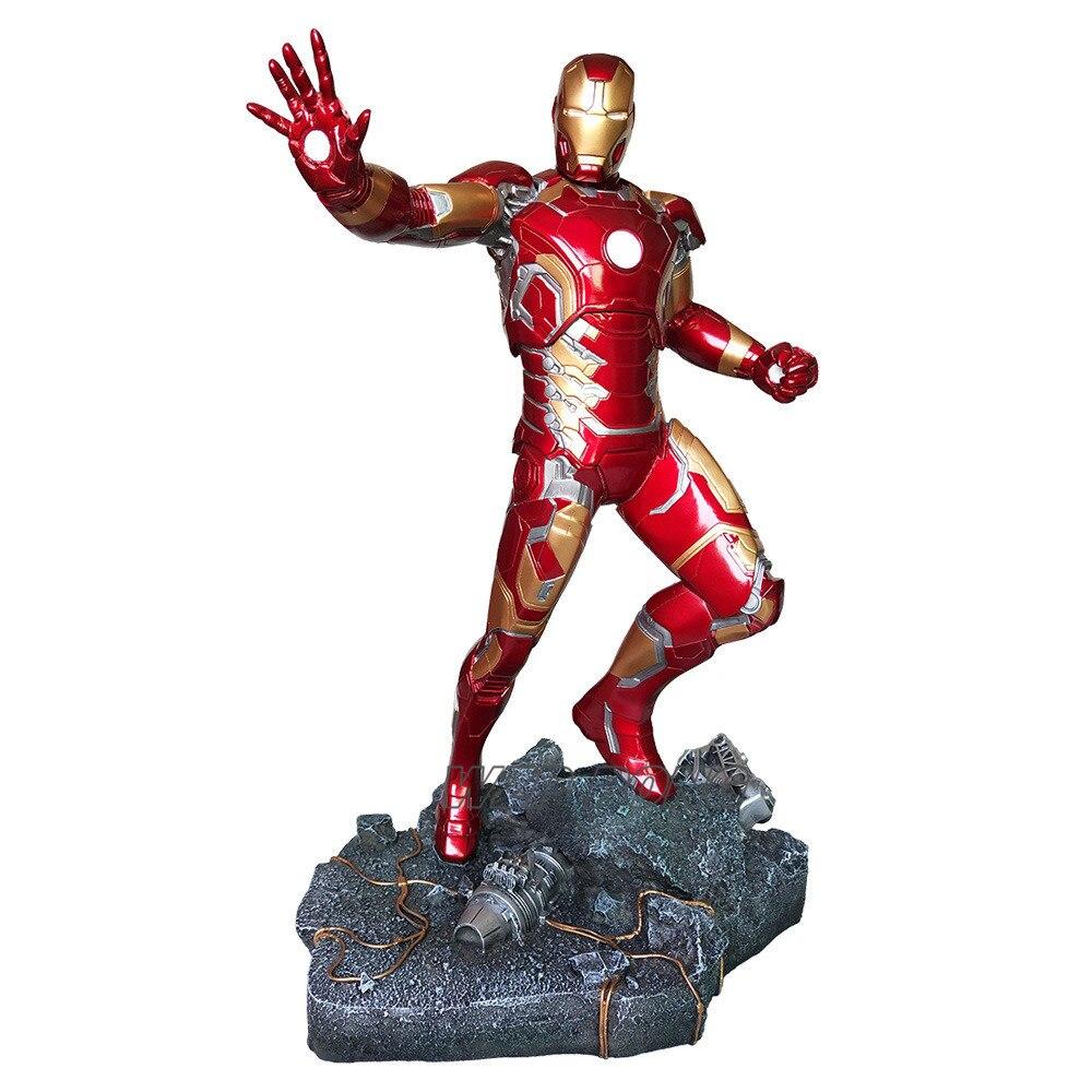 50cm vengadores superhéroe Iron Man Mk43 figura de batalla de resina de cuerpo completo figura de acción coleccionable modelo de juguete regalo