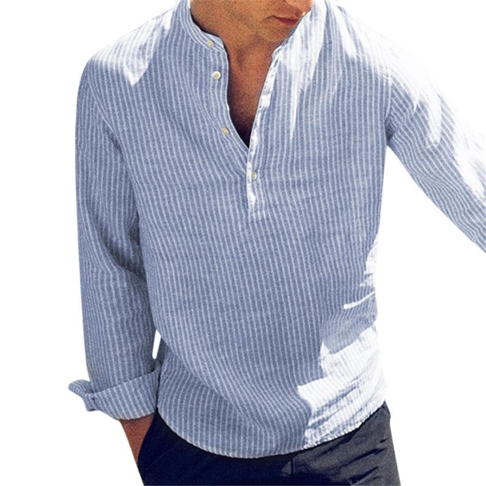 Helisopus 2021 New Cats Long Mouths Men's Shirts Lent Herf Slim Fit Stand Hard Shirt Men's Clothes Plus Size 5XL