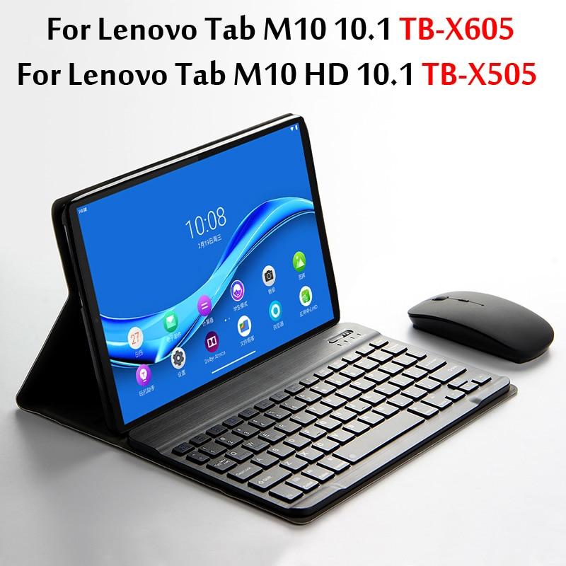 Case de Teclado Bluetooth para Lenovo Capa para Tab l 10.1 Tablet Magneticamente Destacável Tb-x605f x Tab M10 hd Tb-x505f –