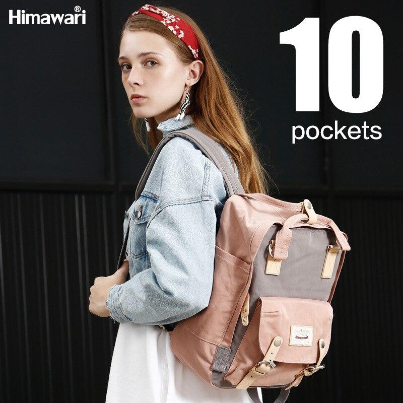 موضة المرأة على ظهره مقاوم للماء المرأة حقيبة سفر عادية الرجال والإناث حقيبة طالب حقيبة المدرسة الكبيرة Mutil اللون على ظهره