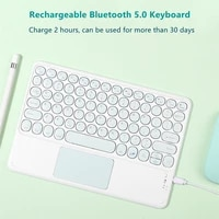 bluetooth wireless keyboard russian arabic thai norsk with touchpad for ipad pro air for xiaomi huawei android windows tablet