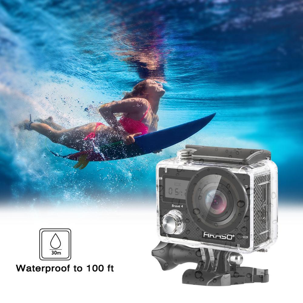 AKASO 4K 20MP Ultra HD Action Camera Brave 4 2'' WIFI EIS Underwater Waterproof Remote control Action Cam Helmet Sport Camera enlarge