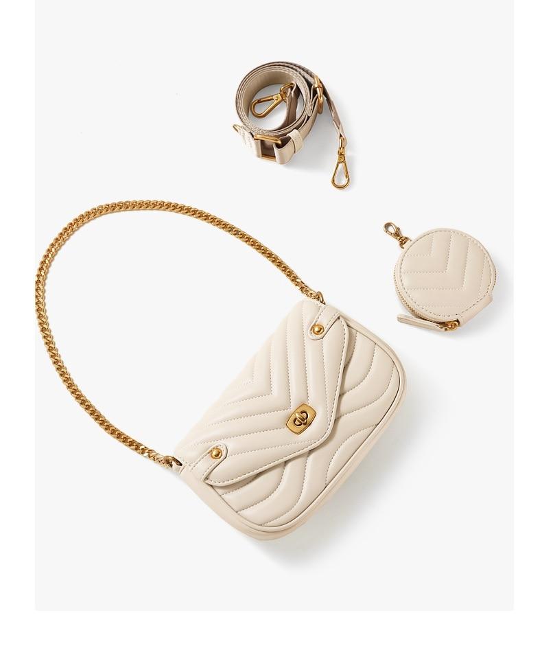 Small PU Leather Shoulder Bag For Women 2021 new purse and Handbags Female Travel Crossbody Bag ladies chain Sling bag 2 PCS/SET