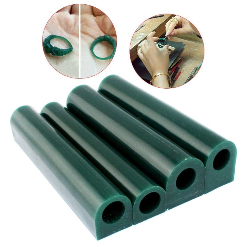 carving engraving wax goldsmith tool green jewelry waxing for injection setting jewelry making model Ring Mold 4Size Jewelry Making Carved Sculpture Wax Tube Flat Top Injection Tool