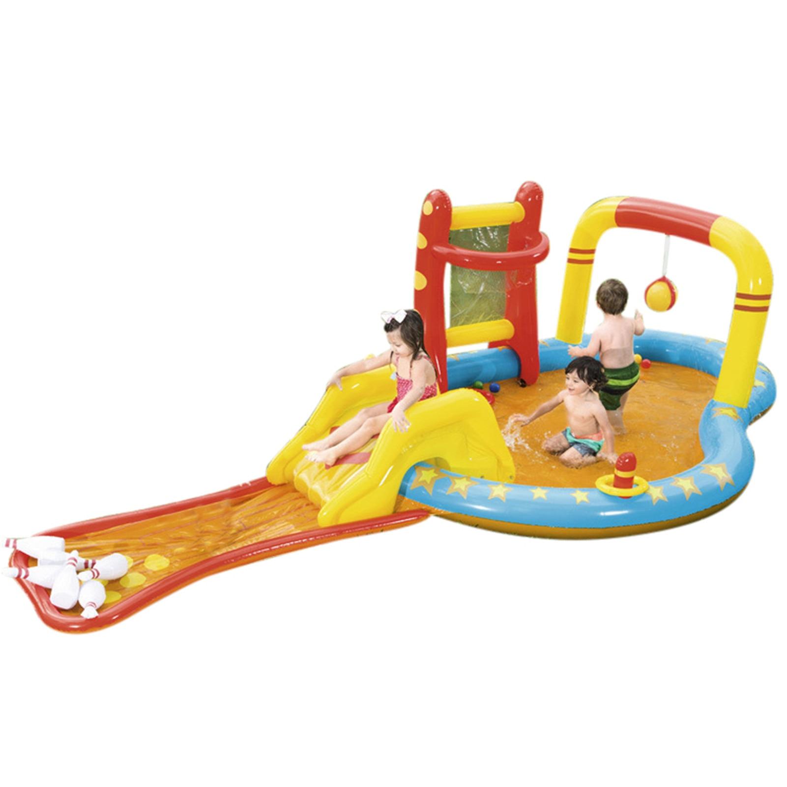 Inflatable Paddling Pool Square Kids Children's Home Use Paddling Pool Portable Foldable Children Baby Bathing Tub