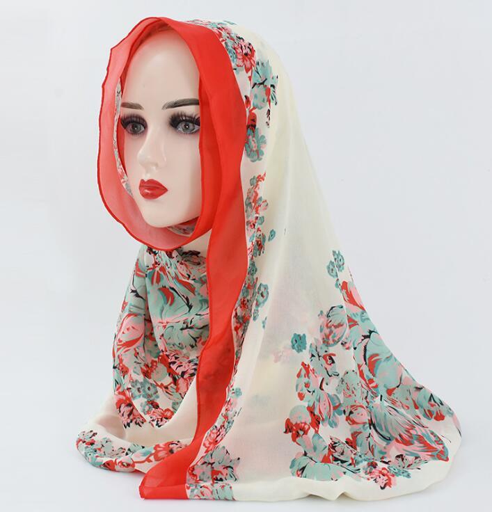 2021 جديد الحرير الشيفون طباعة كبيرة مربع وشاح وشاح حريري طباعة وشاح الحجاب