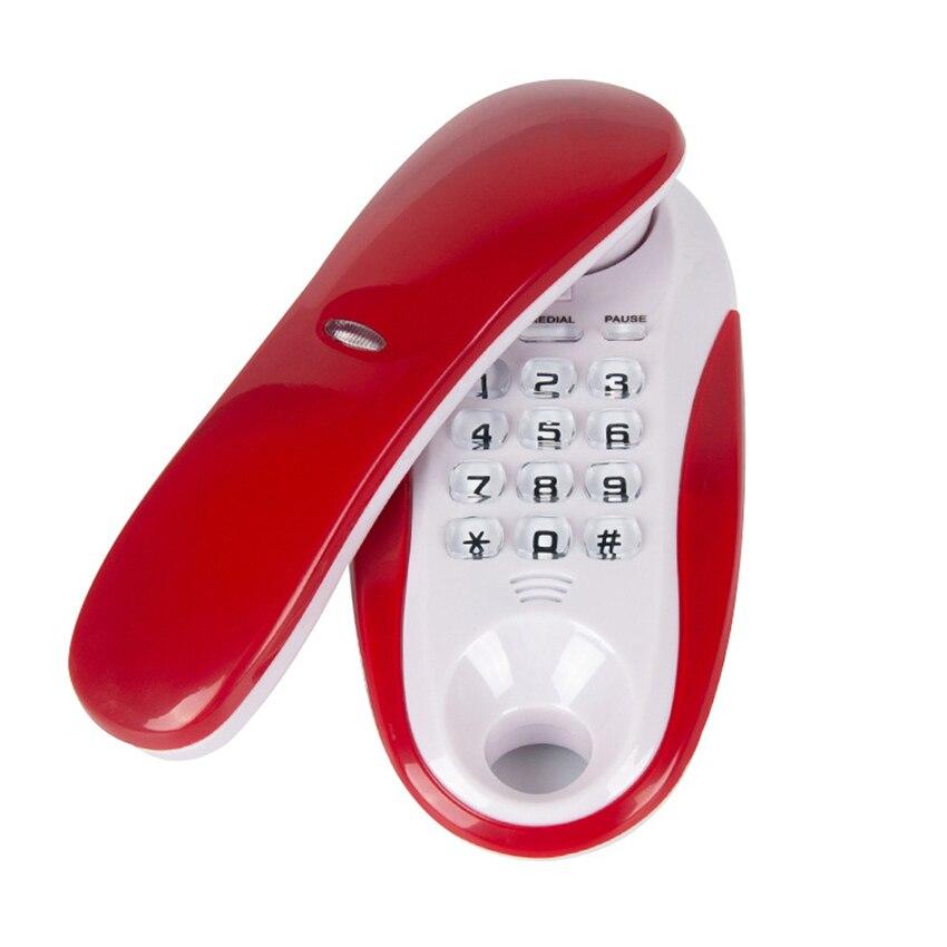 Telefone de parede com linha trava simples, telefone fixado na parede com pause/rediscagem/flash para hotel da empresa do escritório casa casa