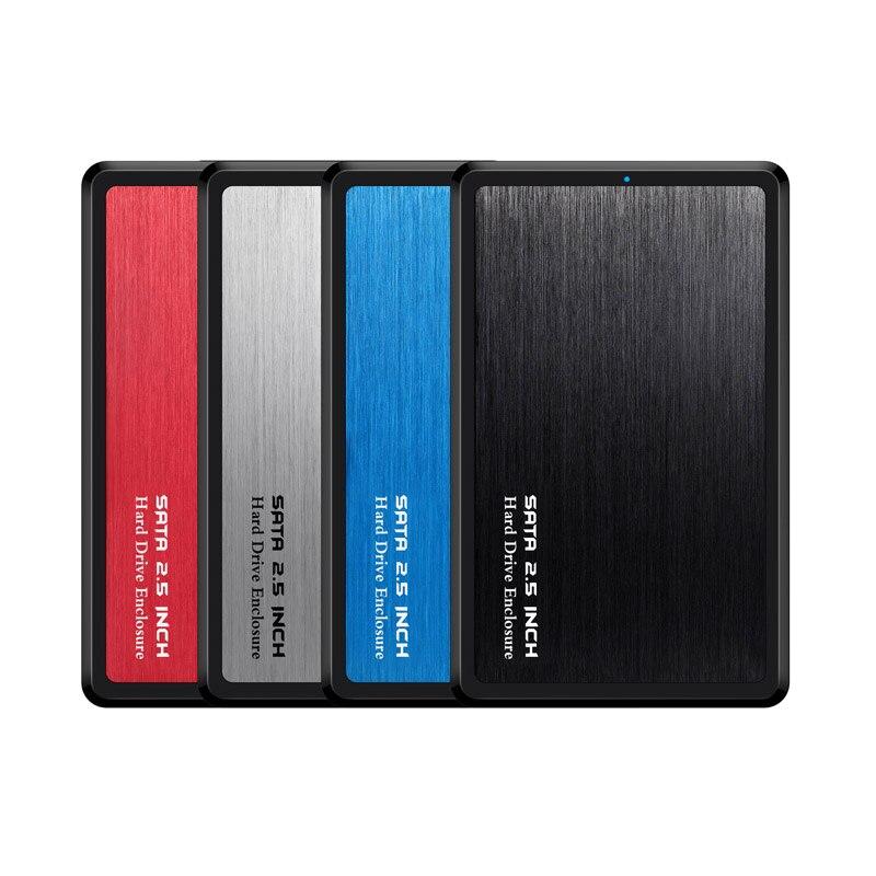 2,5 pulgadas USB 3,0 SATA Hd Box HDD Drive externo HDD carcasa negro caja herramienta gratis 5 Gbps soporte UASP para disco duro SSD/2 TB