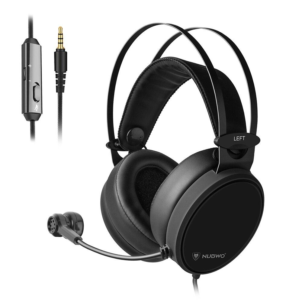Fones de Ouvido com Microfone Fone de Ouvido para Ps4 Nubwo Gaming Headset Baixo 3.5mm pc – Xbox Celular Telefone Tablet Computador n7