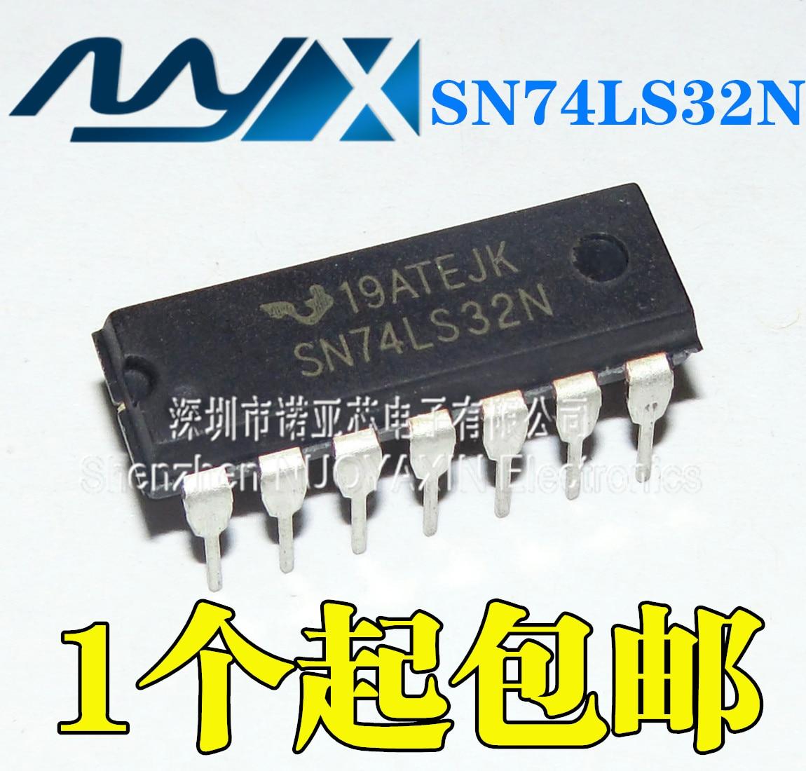 Lote de 10 unidades, nuevo, 74LS32, SN74LS32N, HD74LS32P, Chip Logic DIP14