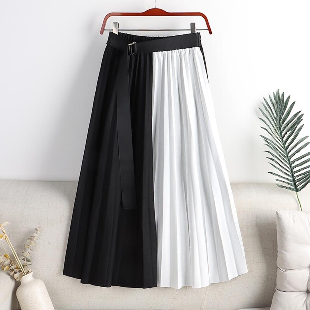 Skirts Women 2021 Summer High Waist Womens Skirts Long Patchwork Skirts New Fashion Casual Japanese