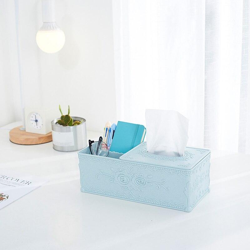 Tissue Box Cover Home Car Desk Organizer Remote Control Holder Makeup Cosmetic Storage Box Napkin Paper Container
