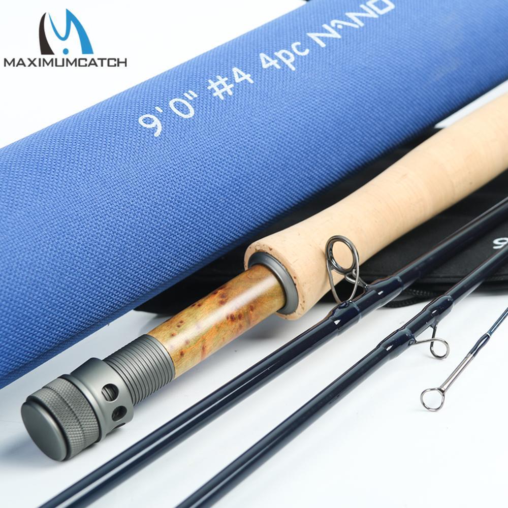 Maximumcatch Nano Fly Fishing Rod IM12 40T+46T Toray Carbon Fast Action Super Light with Cordura Tube 3/4/5/6/7/8WT 8'4''/9'