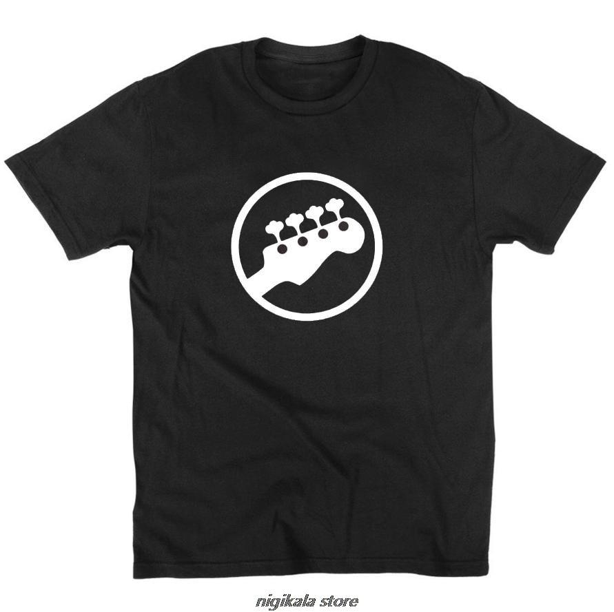 Bajo Headstock guitarra símbolo guitarrista jugador músicos Logo de música rock camiseta divertida cuello redondo manga corta t-shirtxs 4xl5xl