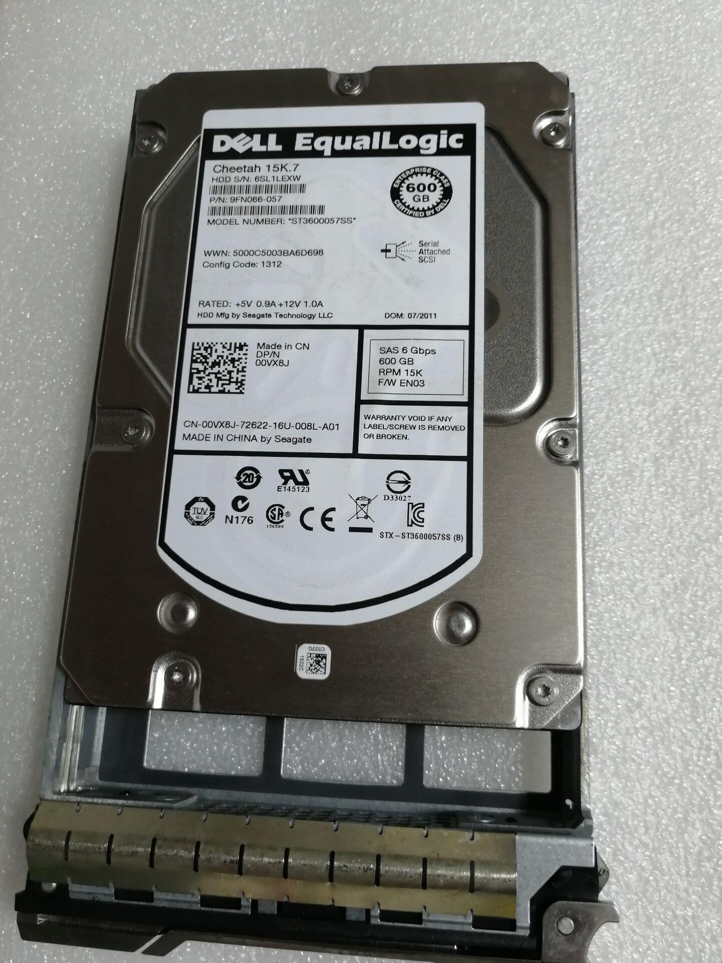 القرص الصلب Dell 600G 3.5 15K 00VX8J ST3600057SS EQUALLOGIC HDD