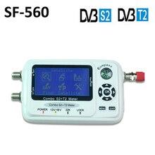 DVB-T2 buscador Digital por satélite DVB-S2 SF560, localizador SF-560 con brújula, DVB-S/T/S2/T2 SF 560 PK SF-500
