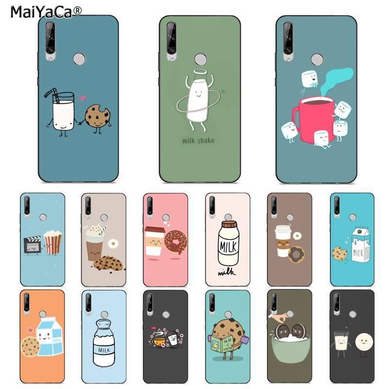 Милый чехол для телефона MaiYaCa с изображением молочного печенья, кофе, попкорна для huawei Y 7S 7 PRO 9 6 Y5 PRIME 2018 Y7 9 5 6 PRO 2019