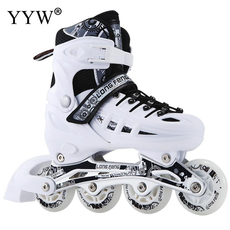 Boys Girl Women Adult Flat Roller skates Skating Shoes Sliding Inline Sneakers 4 wheels 1 Row Line Outdoor Training Gym Sports