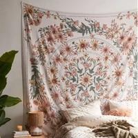 indian mandala tapestry wall hanging flower psychedelic tapestry wall hanging decor for living room bedroom bohemian plant print