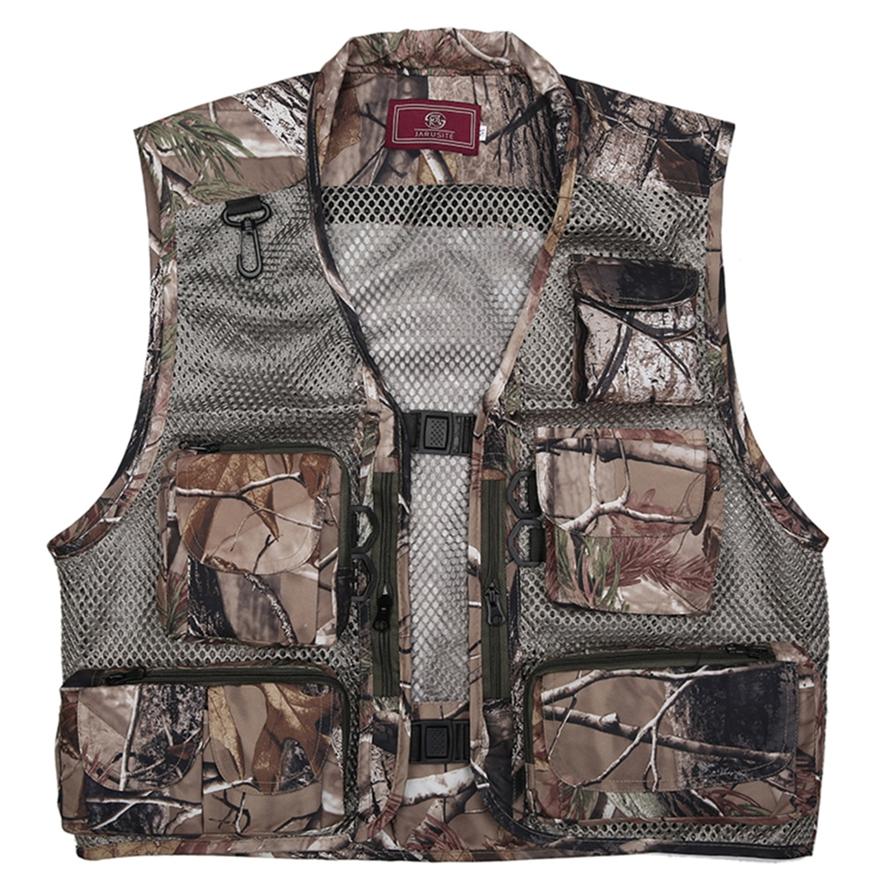 Chaleco impermeable para deportes al aire libre, chaleco salvavidas desmontable para pesca con múltiples bolsillos, chaleco de secado rápido de verano para hombres