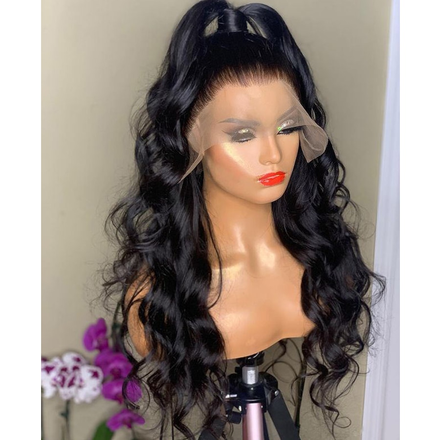 13x4 Body Wave Lace Front Wigs Synthetic Hair Glueless Lace Wig for Women with Baby Hair Synthetic Wig Replacement enlarge