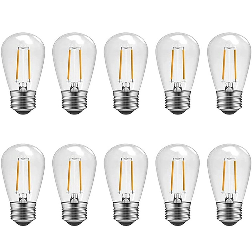 Светодиодный S14 Винтаж Edison Светильник лампы устойчивый к тряске Водонепроницаемый типа «Свеча»), 2 Вт, 4 Вт открытый строка светильник лампы, ...