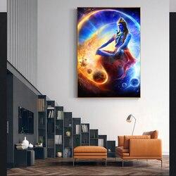 Cartazes e impressões retrato do senhor shiva arte da parede deus hindu pintura em tela hinduísmo arte imagem para sala de estar decoração casa