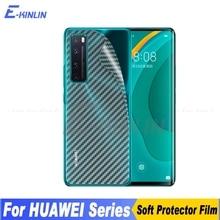 3d koolstofvezel achterkant scherm beschermer voor huawei nova 8 7 7i 5i 5t 5z 5 pro 6 se 5g lite 3 plus sticker film niet glas