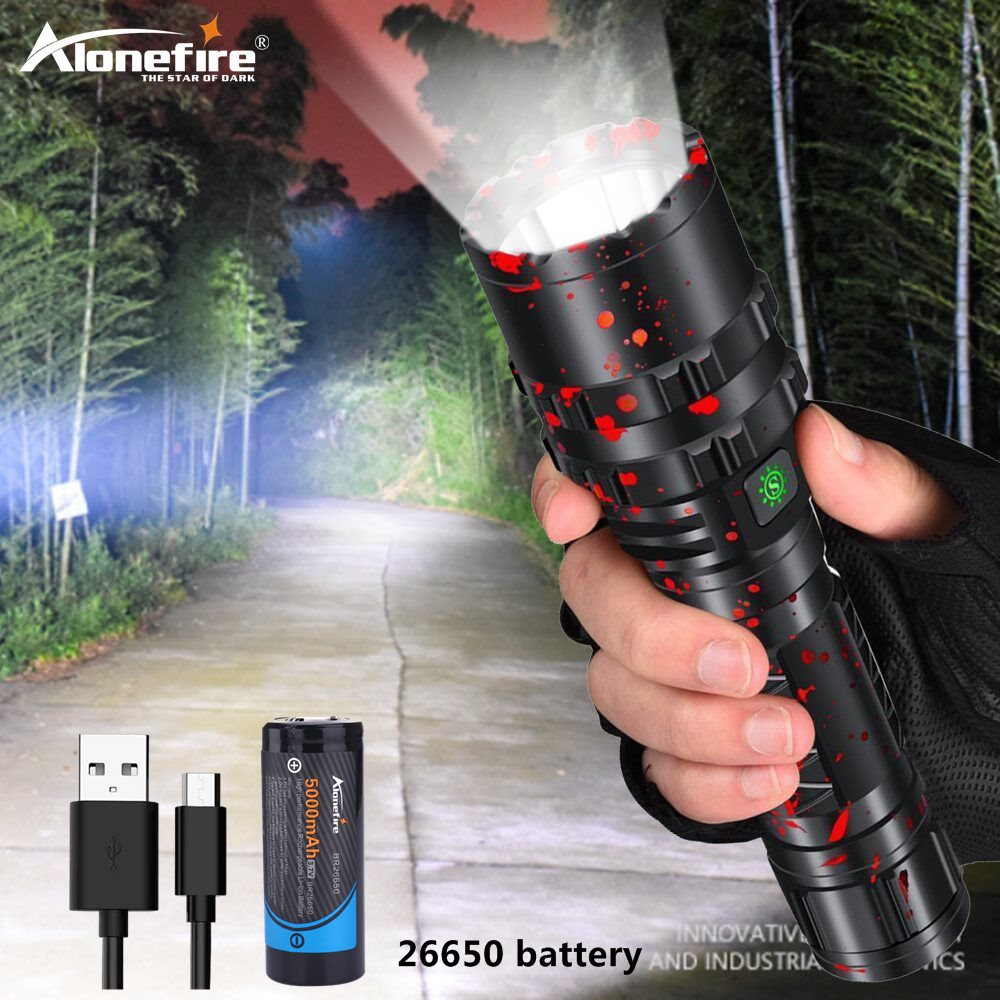 Alonefire G200 800lm potente xhp502 linterna LED táctica xlampara linterna impermeable linterna Ultra brillante Camping
