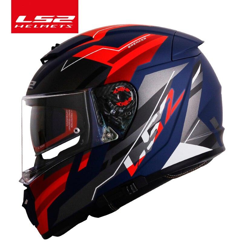 Original LS2 Breaker motorcycle helmet casque moto LS2 FF390 full face dual lens modular helmets casco with free Pinlock
