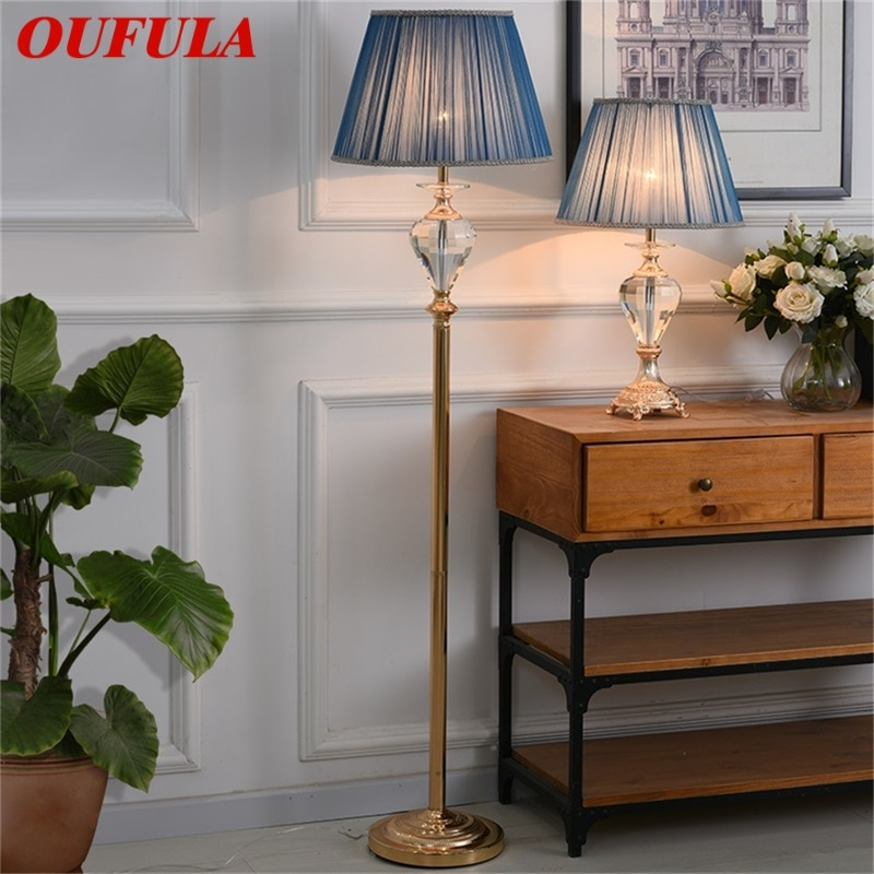oufula lampadas de assoalho luz moderna led design luxo cristal decorativo para casa sala estar